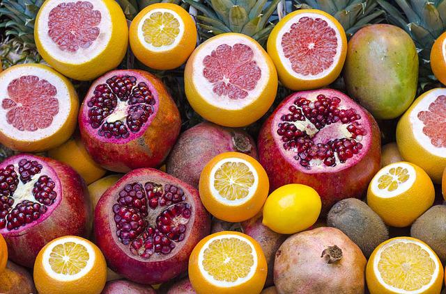 image of Fresh citrus and pomegranates
