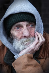 image of a homeless man