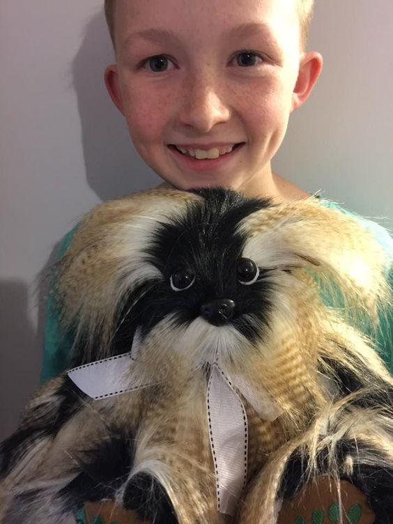 image of 12 year old that sews teddy bears for sick children
