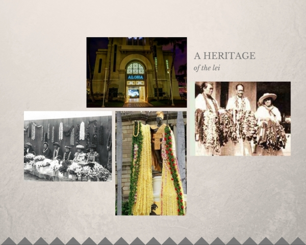 image collage of lei history