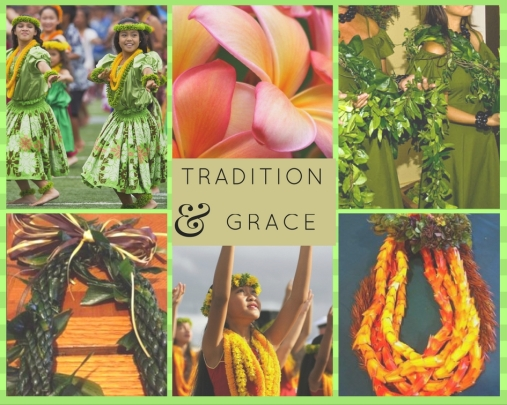 image collage of leis