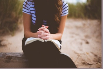 image of girl with bible